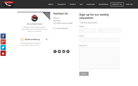 Screenshot of Contact Page inner-rhythm.net - Contact Us - Inner Rhythm - captured Sept. 20, 2018