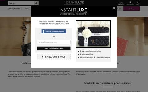 Screenshot of About Page instantluxe.co.uk - Expert selling luxury brand online, pre-owned, cheap luxury brand - Instant Luxe - captured Sept. 24, 2015