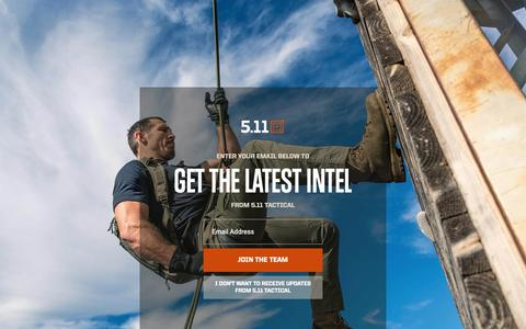 Screenshot of Home Page 511tactical.com - Purpose-Built Tactical Gear, Apparel & Accessories - 5.11 Tactical - captured March 17, 2019