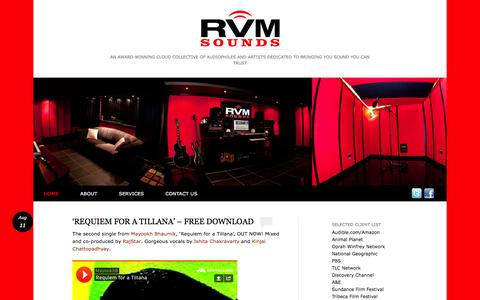 Screenshot of Home Page rvmsounds.com - RVM SOUNDS | An award-winning cloud collective of audiophiles and artists dedicated to bringing you Sound you can Trust - captured Sept. 30, 2014