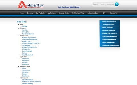Screenshot of Site Map Page ameriluxinternational.com - AmeriLux Site Map - captured Oct. 3, 2018