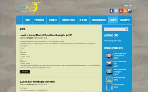 Screenshot of Press Page beachvolleyballgoldcoast.com - News | Beach Volleyball Gold Coast - captured Nov. 4, 2014