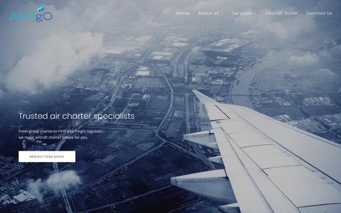 Screenshot of Home Page aergo.com.au - AERgO International - captured Oct. 3, 2018
