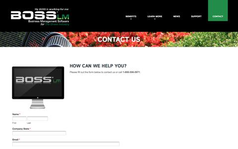 Contact Us  |  BOSS LM