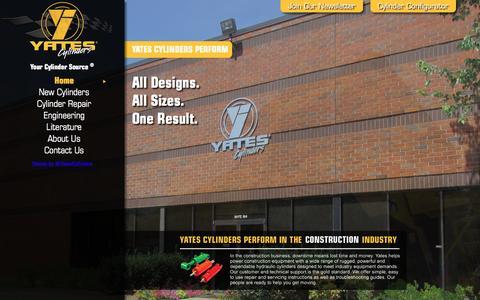 Screenshot of Home Page yatesind.com - Yates Industries | Hydraulic Cylinders | Pneumatic Cylinders - captured Feb. 4, 2016