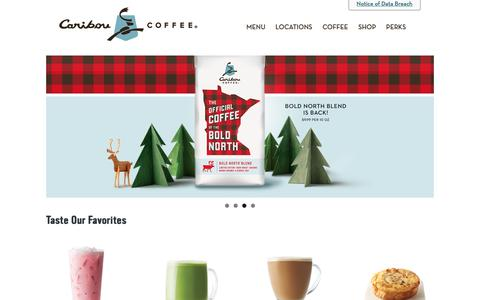 Screenshot of Home Page cariboucoffee.com - Caribou Coffee – Life is Short, Stay Awake for it - captured Jan. 17, 2019