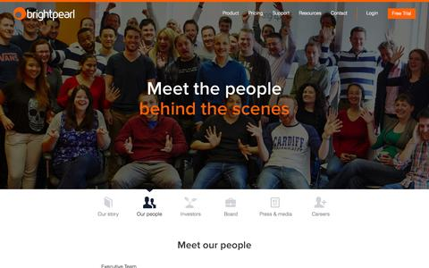 Screenshot of Team Page brightpearl.com - Our People | Brightpearl - captured Sept. 13, 2014