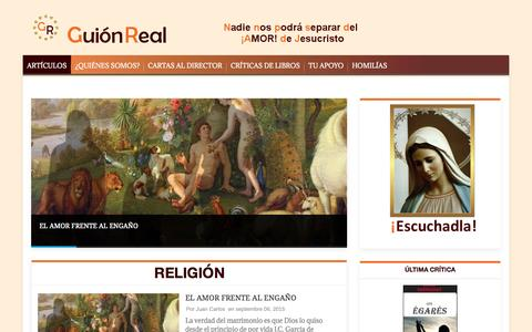 Screenshot of Home Page guionreal.com - GuionReal - Artículos de religión e internacional. - captured Sept. 13, 2015