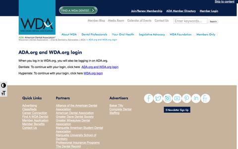 Screenshot of Case Studies Page wda.org - ADA.org and WDA.org login - Wisconsin Dental Association - Oral & Dentistry Advocates | WDA - captured Nov. 30, 2016