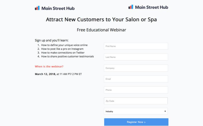 Free Webinar by Main Street Hub