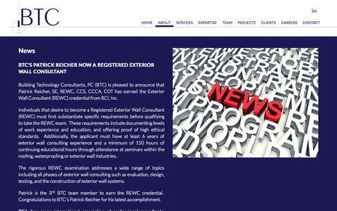 Screenshot of Press Page btcpc.com - News - captured Nov. 3, 2014