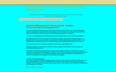 Screenshot of Home Page dorum-neufeld-nordsee.de - Dorum Neufeld - Nordsee Ferienwohnung Vermietungsservice - captured Oct. 30, 2018