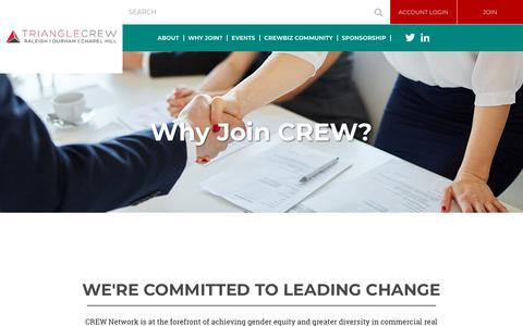 Screenshot of Signup Page trianglecrew.org - Triangle CREW - Why Join? - captured June 29, 2018