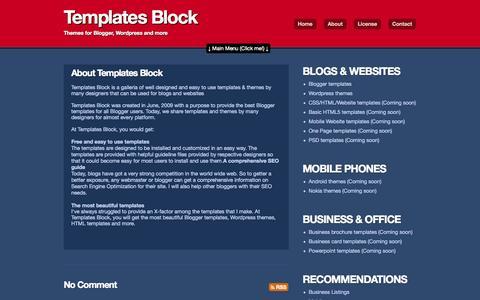 Screenshot of About Page templatesblock.com - About Templates Block | Templates Block - captured Oct. 31, 2014