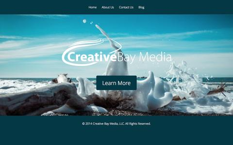 Screenshot of Home Page creativebaymedia.com - Creative Bay Media - captured Sept. 30, 2014