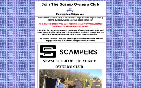Screenshot of Signup Page scampownersclub.org.uk - Join The Scamp Owners Club - captured May 22, 2016