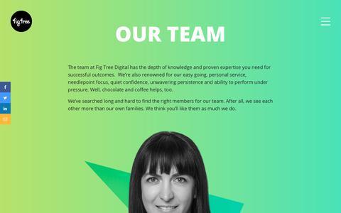 Screenshot of Team Page figtreedigital.com.au - Our Team - Fig Tree Digital | Website Design - Digital Agency - Adelaide - captured Jan. 17, 2020