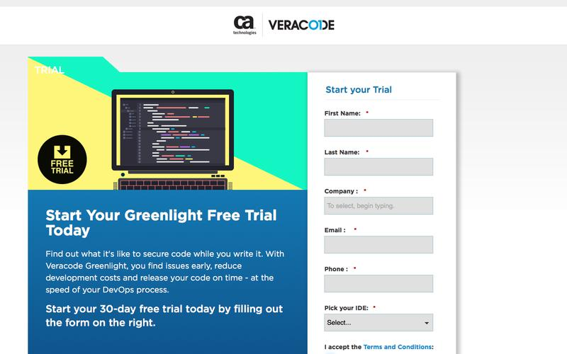 Start Your Greenlight Free Trial Today | Veracode