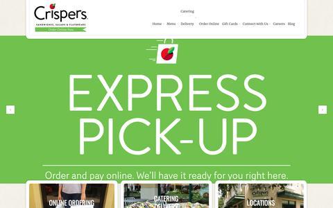 Screenshot of Home Page crispers.com - Crispers Restaurant - - captured Sept. 30, 2018