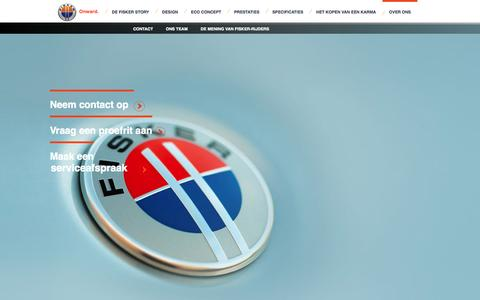 Screenshot of About Page fisker.nl - Over ons - captured Oct. 6, 2014