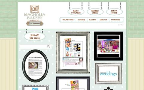 Screenshot of Press Page magnoliabakery.com - Press - Magnolia Bakery - captured Sept. 23, 2014