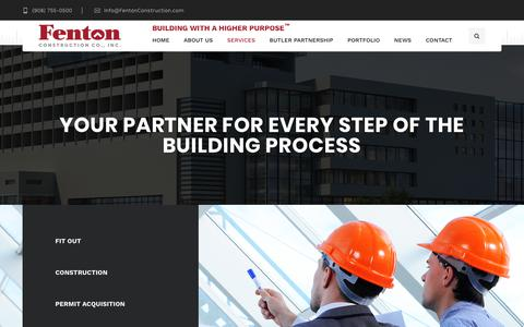 Screenshot of Services Page fentonconstruction.com - Fenton Construction Services - Project Design, Planning, Construction & more - captured Oct. 13, 2017