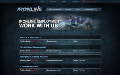 Screenshot of Jobs Page ironline.com - IRONLINE Employment » Ironline Compression Ironline Compression - captured Oct. 6, 2014