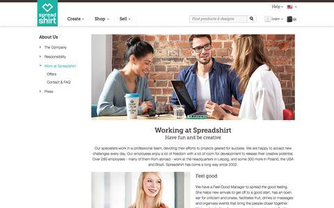 Screenshot of Jobs Page spreadshirt.com - Work at Spreadshirt | Spreadshirt - captured Nov. 17, 2015