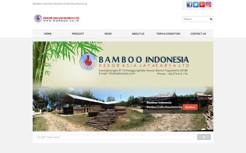 Screenshot of Home Page bamboo.co.id - Bamboo Indonesia, Bamboo Crafts Manufacturing - captured Jan. 26, 2017