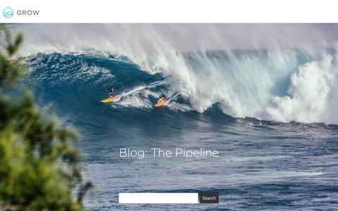 Screenshot of Blog grow.com - Blog | Grow Business Intelligence Dashboard Software - captured Jan. 3, 2017