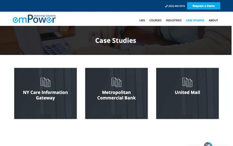 Screenshot of Case Studies Page empowerbpo.com - Case Studies   emPower Solutions Inc. - captured Sept. 30, 2018