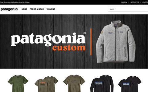 Screenshot of Home Page infozones.in - The Latest Patagonia Jackets,Clothing & Packs Outlet India Online | Free Shipping - captured Oct. 25, 2018