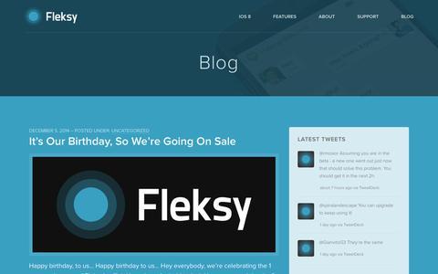 Screenshot of Blog fleksy.com - Blog - Fleksy - captured Dec. 17, 2014