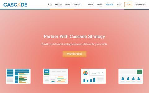Screenshot of executestrategy.net - Cascade Partner Program | Cascade Strategy - captured Dec. 7, 2017