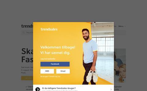 Screenshot of Login Page trendsales.dk - Trendsales - captured Aug. 1, 2019