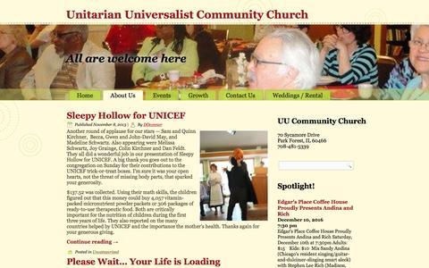 Screenshot of Blog uuccpf.org - Blog – Unitarian Universalist Community Church - captured Nov. 28, 2016
