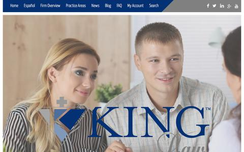 Screenshot of Home Page kinglawoffices.com - Home - King Law Offices - King Law - captured Sept. 20, 2018