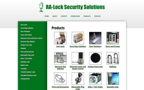 Screenshot of Products Page ralock.com - Products | RA-Lock Security Solutions, Inc. - captured Oct. 18, 2017