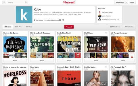Screenshot of Pinterest Page pinterest.com - Kobo on Pinterest - captured Oct. 26, 2014