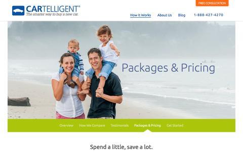 Screenshot of Pricing Page cartelligent.com - Cartelligent | Packages & pricing - captured Sept. 30, 2014