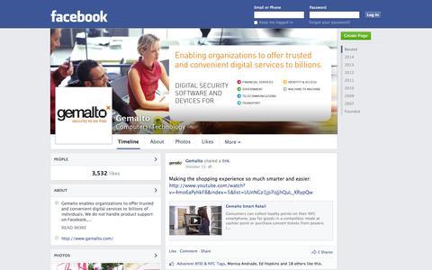 Screenshot of Facebook Page facebook.com - Gemalto - Amsterdam, Netherlands - Computers/Technology | Facebook - captured Oct. 22, 2014