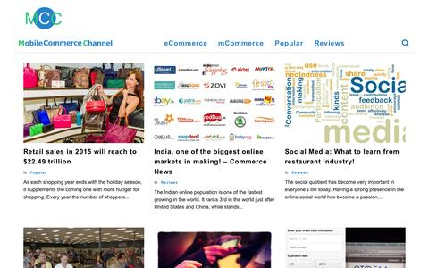 Screenshot of Home Page mobilecommercechannel.com - mobile commerce news | Mobile Commerce Channel | - captured Aug. 12, 2015