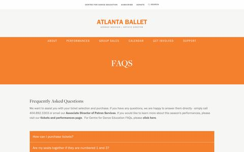 Screenshot of FAQ Page atlantaballet.com - Gennadi Nedvigin, Artistic Director | Atlanta Ballet - captured May 31, 2017