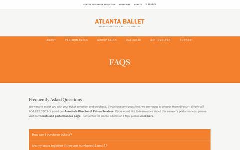 Screenshot of FAQ Page atlantaballet.com - Gennadi Nedvigin, Artistic Director | Atlanta Ballet - captured May 31, 2017