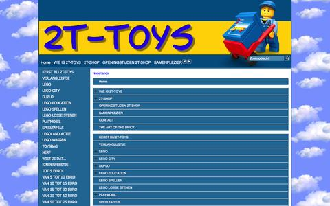 Screenshot of Site Map Page Menu Page 2ttoys.nl - Map - captured Oct. 26, 2014