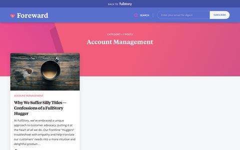 Screenshot of Team Page fullstory.com - Account Management - FullStory Blog | Replay Sessions, CX Analytics, Funnels & Heatmaps - captured Feb. 5, 2020