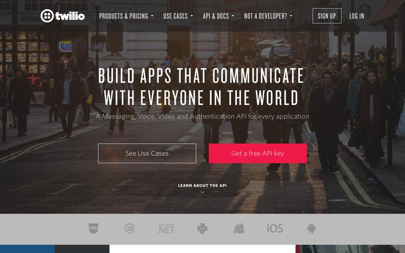 Screenshot Twilio - APIs for Text Messaging, VoIP & Voice in the Cloud