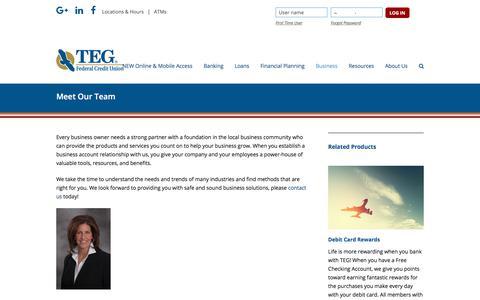 Screenshot of tegfcu.com - Meet Our Team – TEG Federal Credit Union - captured Dec. 2, 2017
