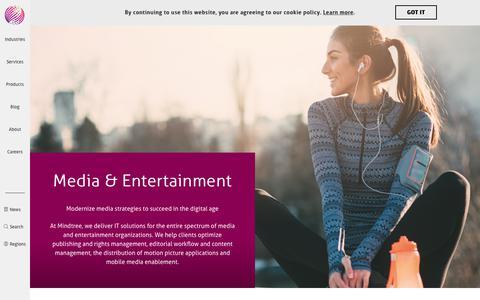 Media & Entertainment | Mindtree