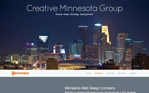 Screenshot of About Page 8bitstudio.com - 8bitstudio - Creative Minnesota Website Design Group - captured Oct. 27, 2014